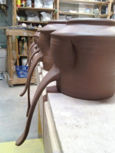 Mugs - handles drying