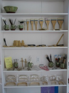 Pottery Tools Display