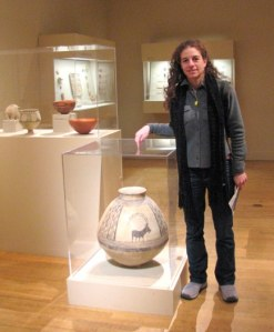 At the Met, showing scale of object
