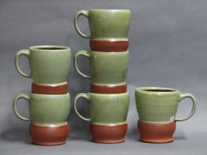 mugs, stacked