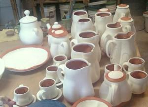 Bisqued pots