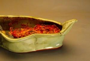 Shiitake-spinach lasagna
