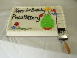 Birthday Cake for Pincu Pottery