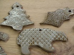 Ornaments in clay!