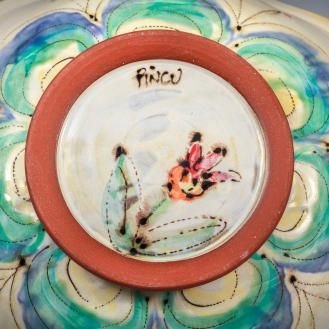 Platter Bottom by Elise Delfield of Pincu Pottery