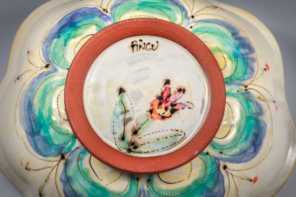 Platter Bottom by Elise Delfield of Pincu Pottery