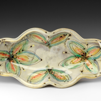 Oval Serving Dish by Elise Delfield of Pincu Pottery